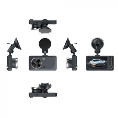 Camera Auto DVR RLDV-363 Techstar® FullHD 1080P 12 MPX DISPLAY IPS 3.2 INCH Lentila Dubla Interior/Exterior [6]