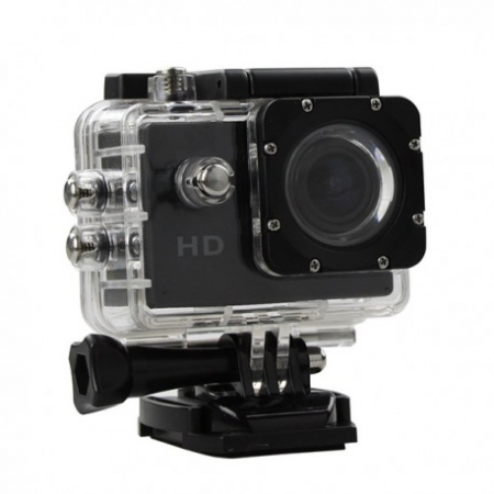Camera Sport S5000 Ecran 2 Inch Subacvatica FullHD 1080P 12MPx Black EXSports0