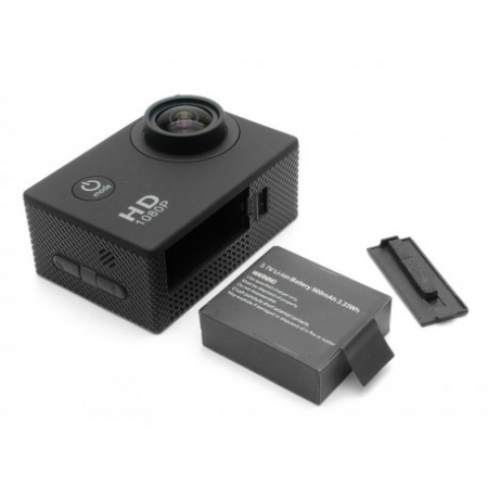 Camera Sport S5000 Ecran 2 Inch Subacvatica FullHD 1080P 12MPx Black EXSports6