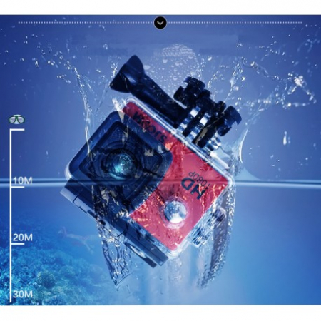 Camera Sport S5000 Ecran 2 Inch Subacvatica FullHD 1080P 12MPx Black EXSports7