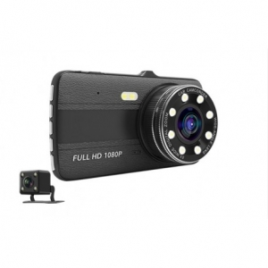 CAMERA VIDEO AUTO NOVATEK T800 DUBLA 8 LED-URI INFRAROSU FULL HD1
