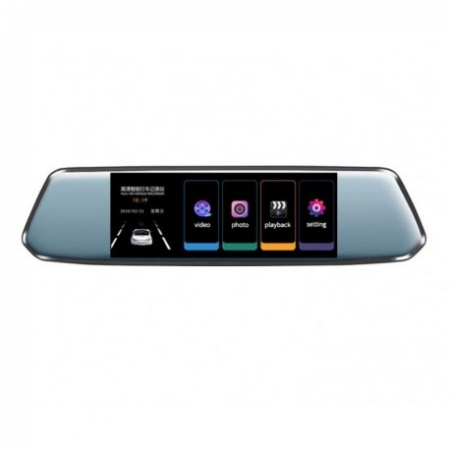 "CAMERA VIDEO AUTO TIP OGLINDA DVR TECHSTAR® 7"" FULLHD 1080P, DUALLENS CU MARSARIER SI TOUCHSCREEN4"
