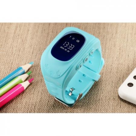 Ceas Smartwatch Pentru Copii Albastru Q50+ Slot Cartela SIM, GPS Tracker, Buton Urgenta SOS, Monitorizare Live6