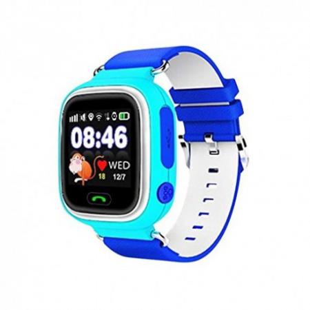 Ceas Smartwatch Pentru Copii Albastru Q90 Slot Cartela SIM, GPS Tracker, Buton Urgenta SOS, Monitorizare Live7