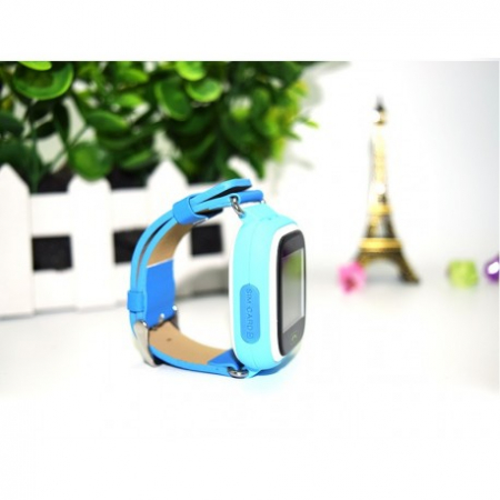Ceas Smartwatch Pentru Copii Albastru Q90 Slot Cartela SIM, GPS Tracker, Buton Urgenta SOS, Monitorizare Live4