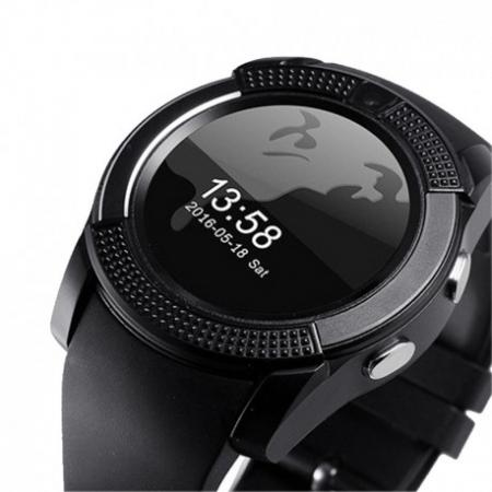 Ceas Smartwatch V8 Negru HandsFree Bluetooth 3.0 Micro SIM Android Camera 1.3MP0