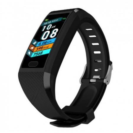 "Bratara Fitness Smartband Techstar® T12 Waterproof IP65, Bluetooth 4.2, Compatibila Android & IOS, Display TFT 1.14"", Negru8"