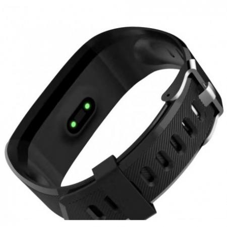 "Bratara Fitness Smartband Techstar® T12 Waterproof IP65, Bluetooth 4.2, Compatibila Android & IOS, Display TFT 1.14"", Negru1"