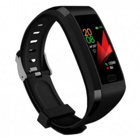 "Bratara Fitness Smartband Techstar® T12 Waterproof IP65, Bluetooth 4.2, Compatibila Android & IOS, Display TFT 1.14"", Negru4"
