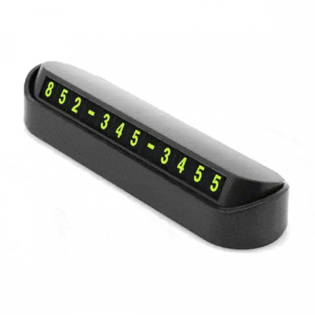 Placuta Numar Telefon cu Cifre Magnetice, pentru Parcarea Temporara, Negru [0]
