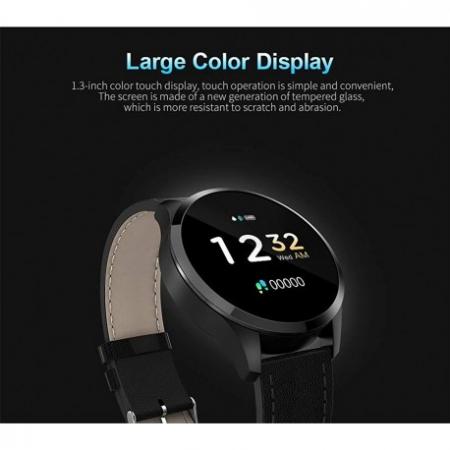 Ceas Smartwatch Techstar® Q9, Bluetooth 4.0, Waterproof IP65, IPS Touch HD, Potrivit Fitness, Android, IOS, Negru1