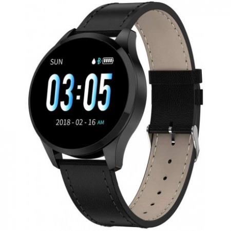 Ceas Smartwatch Techstar® Q9, Bluetooth 4.0, Waterproof IP65, IPS Touch HD, Potrivit Fitness, Android, IOS, Negru6
