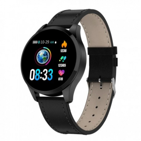 Ceas Smartwatch Techstar® Q9, Bluetooth 4.0, Waterproof IP65, IPS Touch HD, Potrivit Fitness, Android, IOS, Negru0