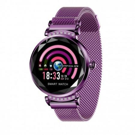 Smartwatch Fitness Sport Mov Elegant Pentru Dama H2 Cu Monitorizare Somn Si Cardiaca [0]