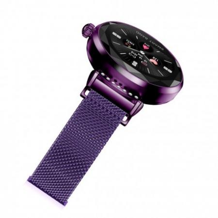 Smartwatch Fitness Sport Mov Elegant Pentru Dama H2 Cu Monitorizare Somn Si Cardiaca [2]