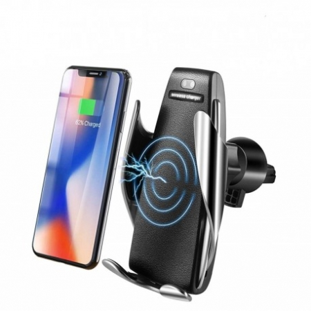 SUPORT INCARCATOR TELEFON AUTO SMART TECHSTAR® S5 WIRELESS INFRAROSU 360° FAST CHARGE UNIVERSAL ANDROID SI IOS 4 - 6.5 INCH0