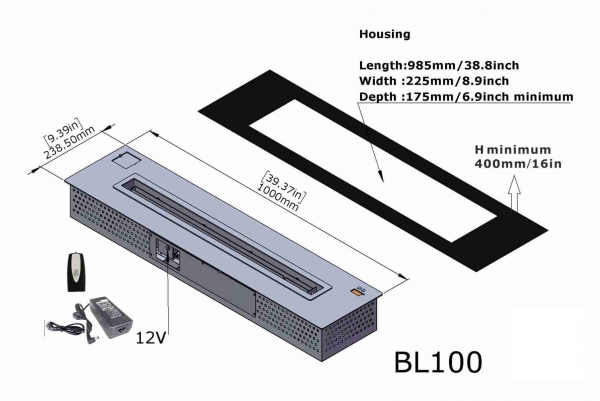 Semineu bioetanol BL100 5