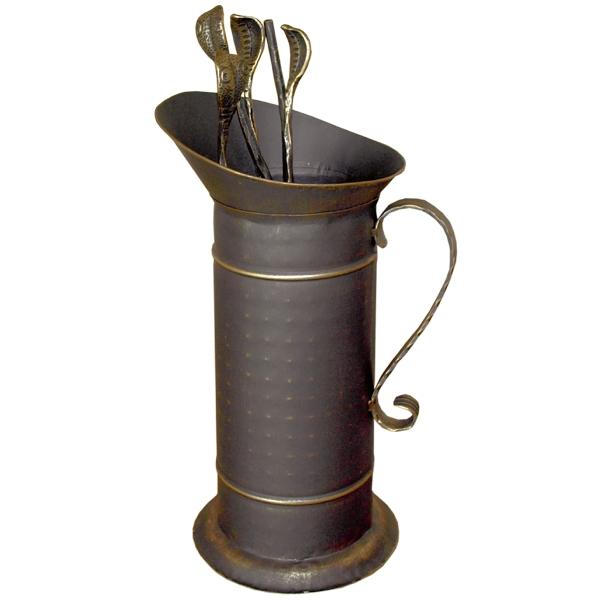 Set vatrai semineu Quiver - fier forjat, auriu patinat, 4 accesorii 0
