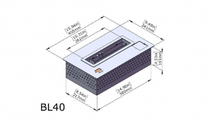 Semineu bioetanol BL40 - compact, cu telecomanda3