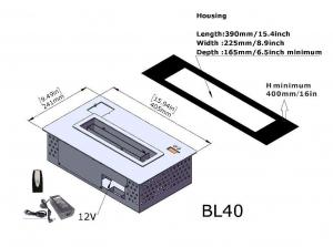 Semineu bioetanol BL40 - compact, cu telecomanda4