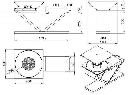 Gratar gradina fire pit G5 corten [5]