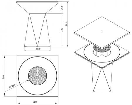 Gratar gradina fire pit G1 graphite [1]