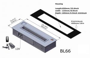 Semineu bioetanol BL66 - mare, cu telecomanda3