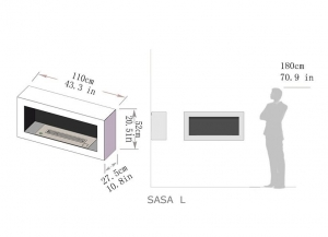 Semineu bioetanol SASA - 3 variante culori, 3 variante dimensiuni1