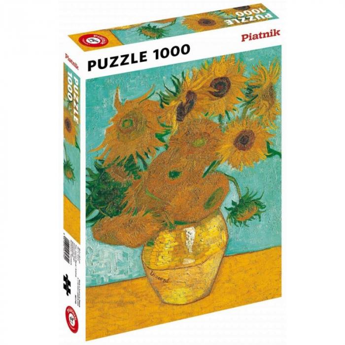 "Puzzle Piatnik ""Vincent van Gogh - Floarea Soarelui"", 1000 piese, dimensiune 68 x 48 cm, produs in Austria 0"