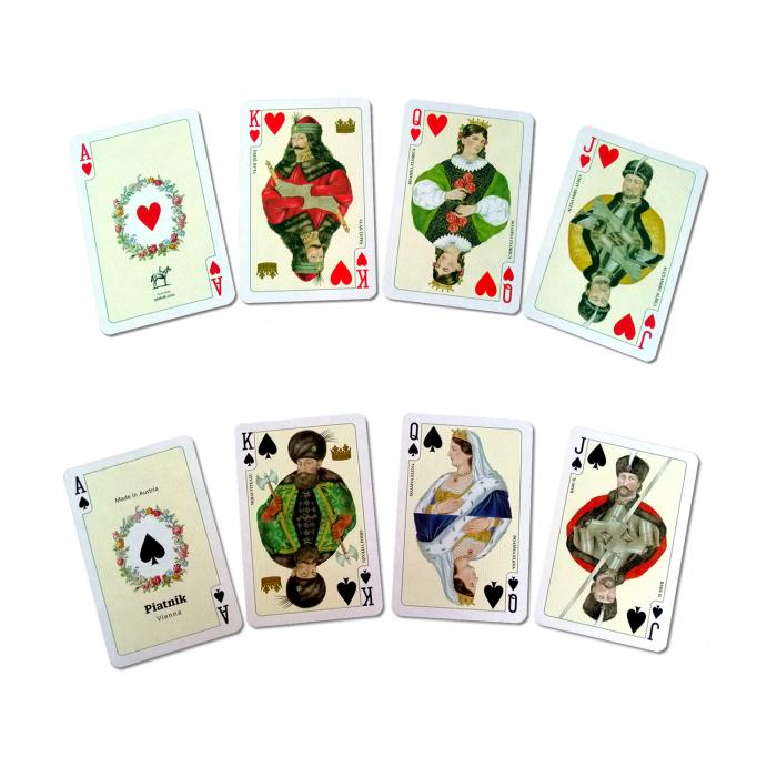 Carti de joc Romania, produse de Piatnik, 2 pachete de carti in cutie de lux 1