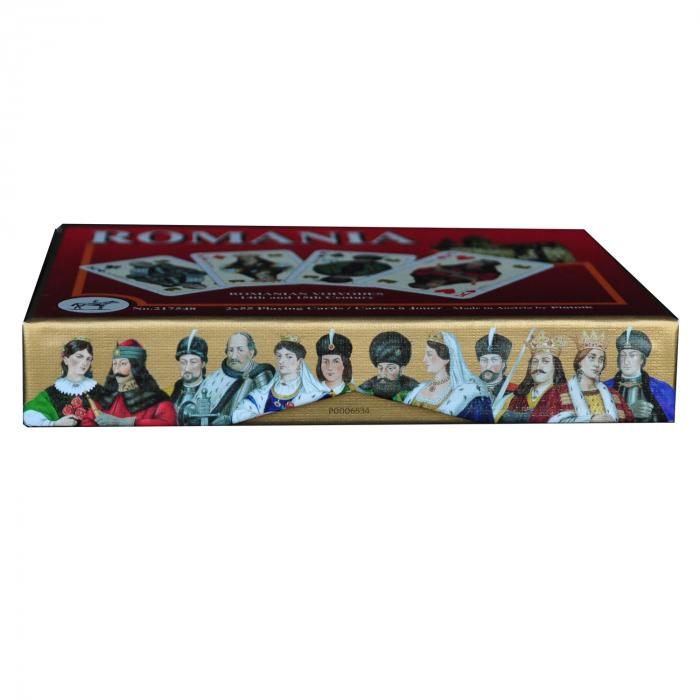Carti de joc Romania, produse de Piatnik, 2 pachete de carti in cutie de lux 3