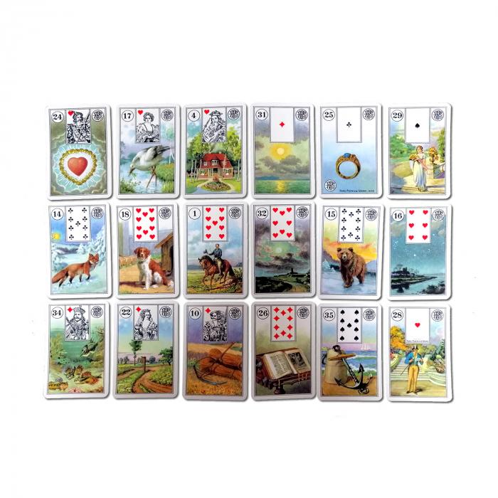 """Carti de joc pentru cartomantie Piatnik """"Jocul Destinului - Mademoiselle Lenormand"""" 1"""
