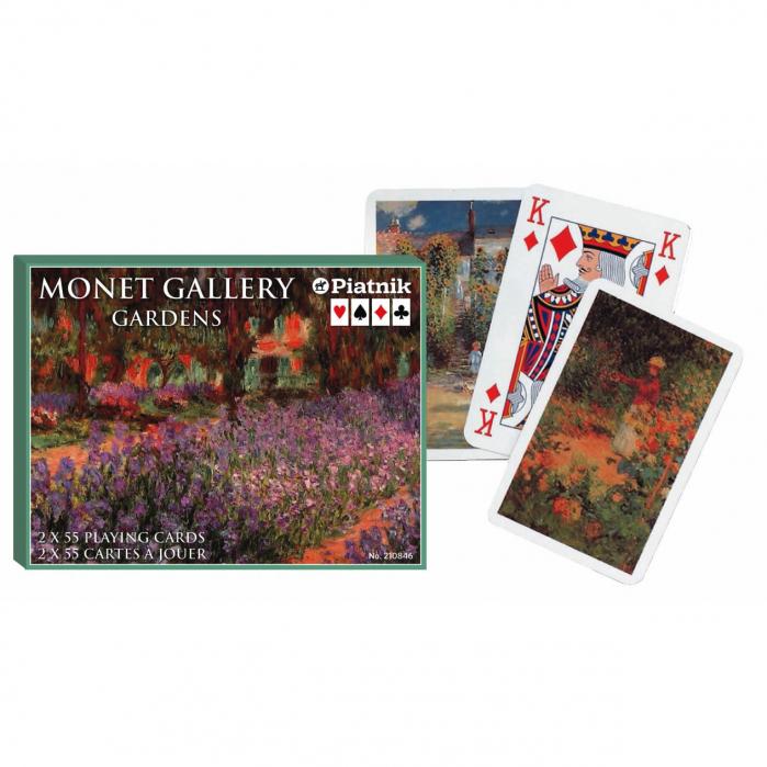 "Carti de joc ""Monet - Gardens"", Piatnik (Austria), 2 pachete in cutie de lux [0]"
