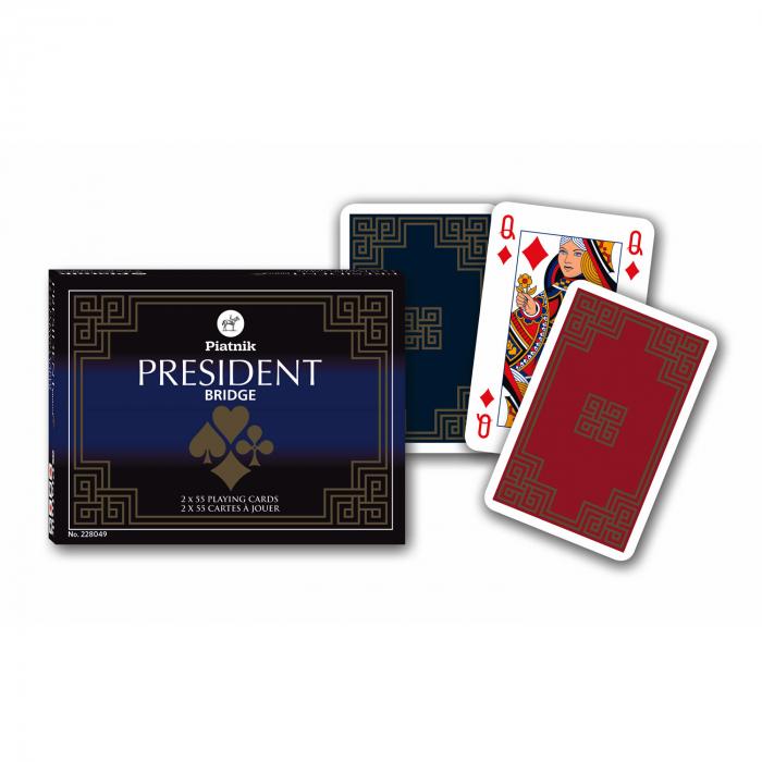"""Carti de joc """"President"""", Piatnik (Austria), 2 pachete a 52 de carti + 3 jokeri [0]"""