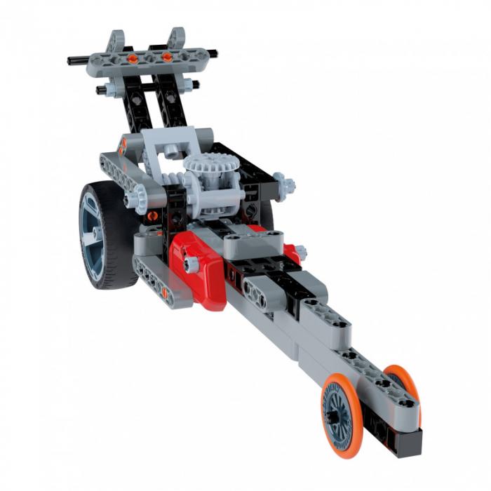 Set constructie Clementoni, 2 in 1, Motocicleta Roadster si Dragster, 130 piese, pentru copii de peste 8 ani 2