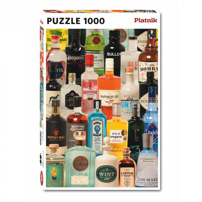 """Puzzle Piatnik """"Taste of Gin"""", 1000 piese, dimensiune 68 x 48 cm, produs in Austria [0]"""
