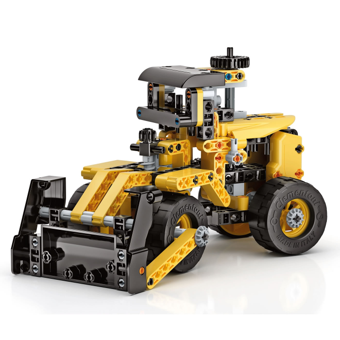 Set constructie Clementoni, 10 in 1, Laboratorul de mecanica - Buldozer, 200 piese, pentru copii de peste 8 ani [2]