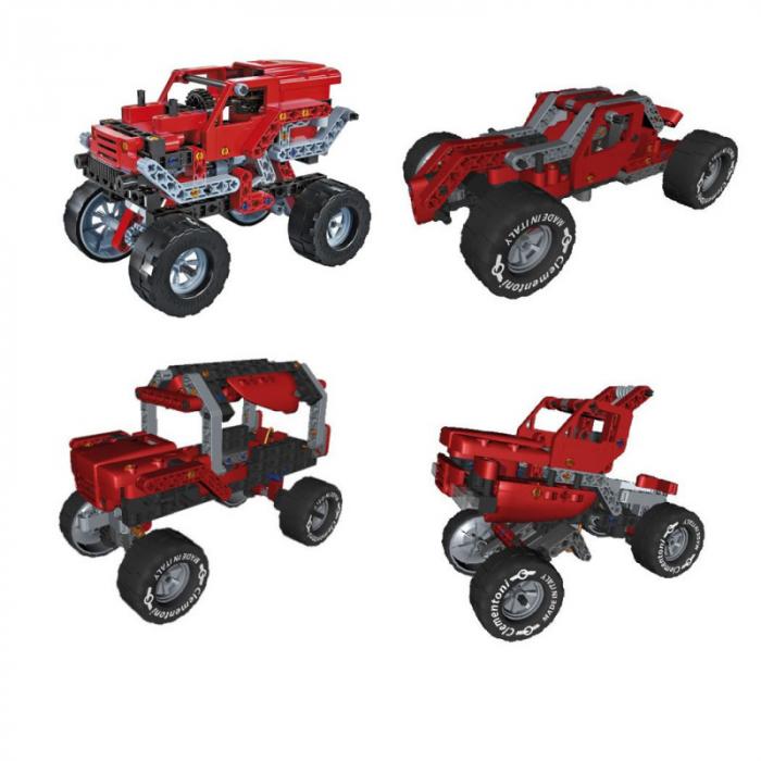 Set constructie Clementoni, Laboratorul de mecanica - Monster Truck, 10 modele posibile, 200 piese, pentru copii de peste 8 ani [1]