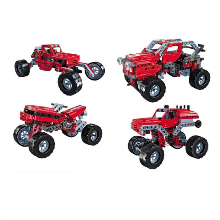 Set constructie Clementoni, Laboratorul de mecanica - Monster Truck, 10 modele posibile, 200 piese, pentru copii de peste 8 ani 2