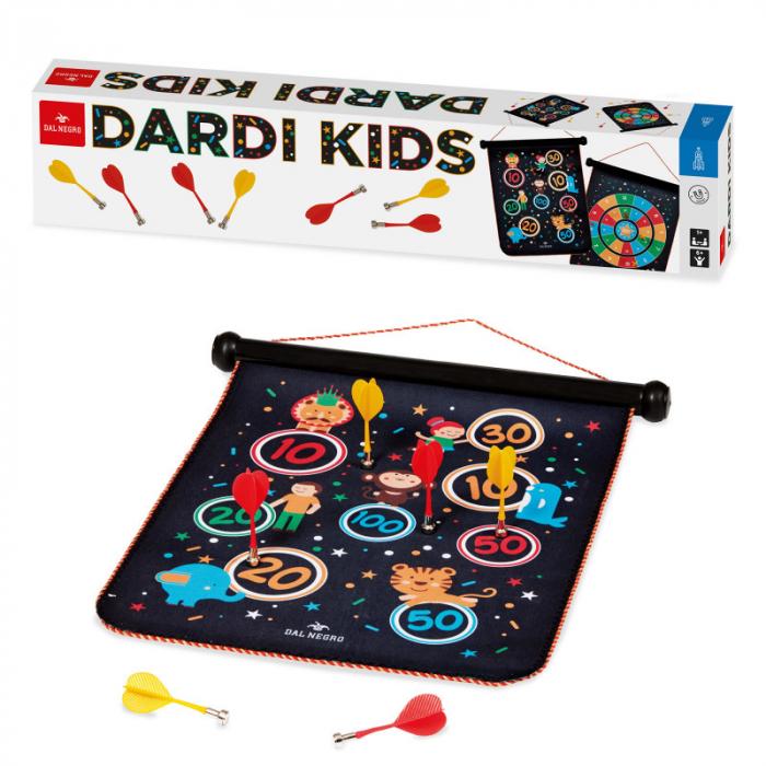 "Joc Darts Magnetic ""Dardi Kids"", include tinta cu 2 modele si 6 sageti [0]"