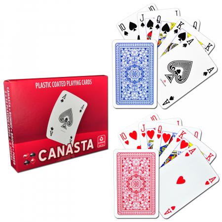 Carti de joc CANASTA, 2 pachete a 52 carti + 6 jokeri, produse de Cartamundi [0]