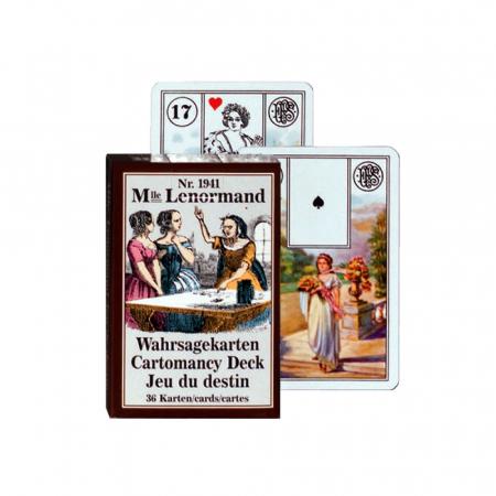 """Carti de joc pentru cartomantie Piatnik """"Jocul Destinului - Mademoiselle Lenormand""""0"""