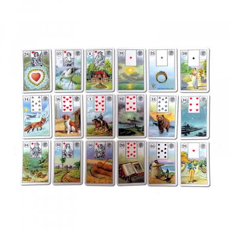 """Carti de joc pentru cartomantie Piatnik """"Jocul Destinului - Mademoiselle Lenormand""""1"""