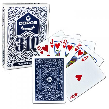 Carti de joc Copag 310 Regular, extrafinisate, culoare spate albastru, recomandate pentru jucatori, mentalisti si magicieni0