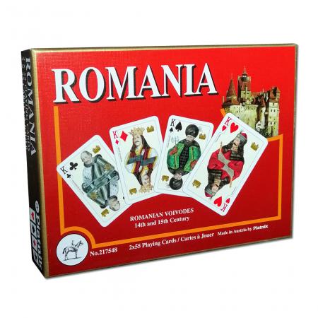 Carti de joc Romania, produse de Piatnik, 2 pachete de carti in cutie de lux0