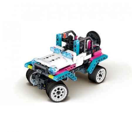 Set constructie Clementoni, Laboratorul de mecanica - Safari Park, 200 piese, 10 modele posibile, pentru copii de peste 8 ani [2]