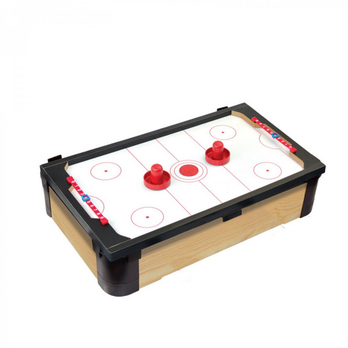 Joc de birou 3 in 1 din lemn V1 biliard ping-pong hockey [1]