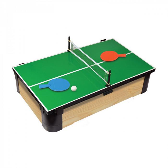 Joc de birou 3 in 1 din lemn V1 biliard ping-pong hockey [3]