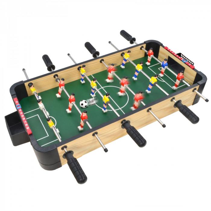 Joc de birou 3 in 1 din lemn v2 foosball ping-pong slide hockey 0