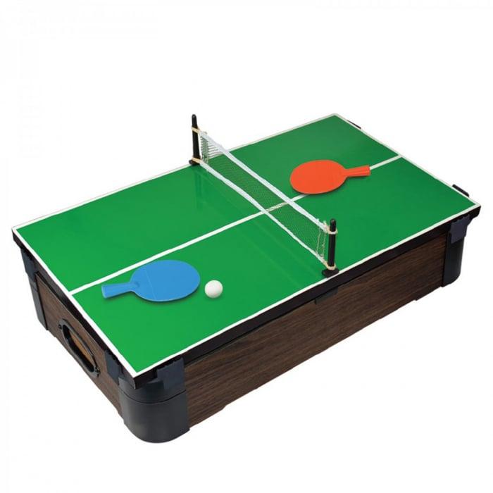 Joc de birou 5 in 1 din lemn V2 - biliard ping-pong sah table dame